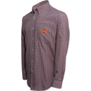 Campus Specialties Men's Iowa State Cyclones Cardinal Multi-Checkered Woven Long Sleeve Shirt
