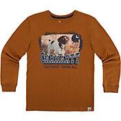 Carhartt Boys' Photoreal Brittany Spaniel Long Sleeve Shirt