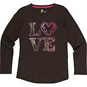 Carhartt Little Girls' Camo Love Long Sleeve T-Shirt