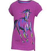 Carhartt Little Girls' Painterly Horse Slub T-Shirt