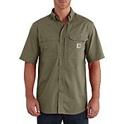 Carhartt Men's Force Ridgefield Button Down Short Sleeve Shirt