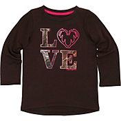 Carhartt Toddler Girls' Camo Love Long Sleeve T-Shirt