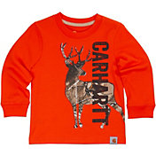 Carhartt Toddler Boys' Deer Camo Long Sleeve Shirt