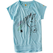 Carhartt Little Girls' Feathered Horse Force Short Sleeve T-Shirt
