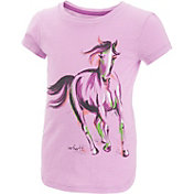 Carhartt Toddler Girls' Painterly Horse Slub T-Shirt