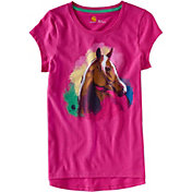 Carhartt Little Girls' Water Color Horse Short Sleeve T-Shirt