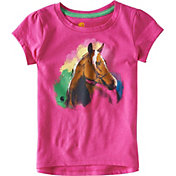 Carhartt Toddler Girls' Water Color Horse Short Sleeve T-Shirt