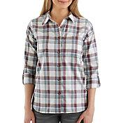 Carhartt Women's Fairview Plaid Woven Long Sleeve Shirt
