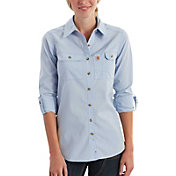 Carhartt Women's Force Ridgefield Button Down Long Sleeve Shirt