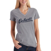Carhartt Women's Wellton Striped Logo T-Shirt