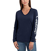 Carhartt Women's Wellton Graphic V-Neck Long Sleeve Shirt