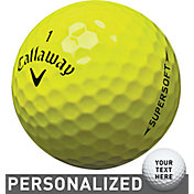 Callaway 2017 Supersoft Yellow Personalized Golf Balls