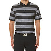 Callaway Rugby Stripe Print Polo