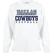 Dallas Cowboys Merchandising Men's Practice Long Sleeve White Shirt