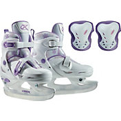 DBX Girls' Adjustable Ice Skates Package