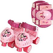 Disney Minnie Mouse Girls' Roller Skates and Knee Pads