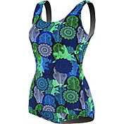 Dolfin Women's Printed Conservative Scoop Back Swimsuit