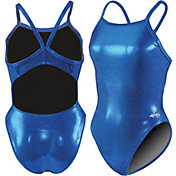 Dolfin Women's Metallics V-2 Back Swimsuit
