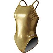Dolfin Women's Metallics V-2 Back Swimsuit