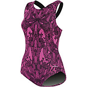 Dolfin Women's Printed Moderate Lap Racerback Swimsuit