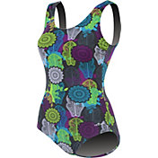Dolfin Women's Printed Moderate Scoop Back Swimsuit