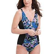 Dolfin Women's Blue Eden Panel Swimsuit