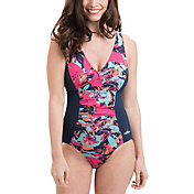 Dolfin Women's Pink Eden Panel Swimsuit