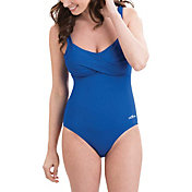 Dolfin Women's Aquashape Drape Front Swimsuit