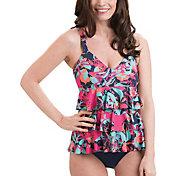 Dolfin Women's Aquashape Pink Eden Ruffle Swimsuit
