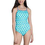 Dolfin Women's Uglies Tinsel Print Racerback Swimsuit