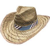 Dorfman Pacific Men's USA Straw Hat