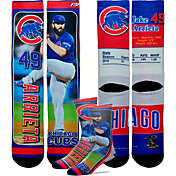 For Bare Feet Chicago Cubs Jake Arrieta Trading Card Socks