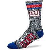 For Bare Feet New York Giants 4-Stripe Deuce Marbled Crew Socks