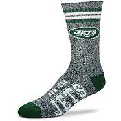 For Bare Feet New York Jets 4-Stripe Deuce Marbled Crew Socks