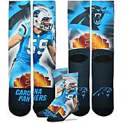 For Bare Feet Carolina Panthers Luke Kuechly Player Crew Socks