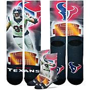 For Bare Feet Houston Texans J. J. Watt Player Crew Socks