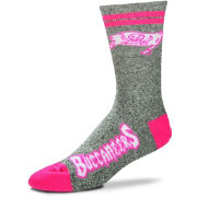 For Bare Feet Tampa Bay Buccaneers Women's 2-Stripe Melange Crew Socks