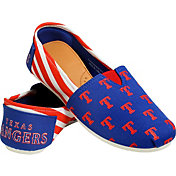 Forever Collectibles Texas Rangers Striped Canvas Shoes