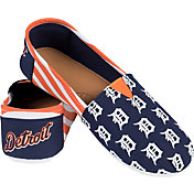 Forever Collectibles Detroit Tigers Striped Canvas Shoes