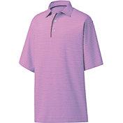 FootJoy Men's Geometric Jacquard Golf Polo