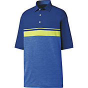 FootJoy Men's Lisle Color Block Space Dye Golf Polo