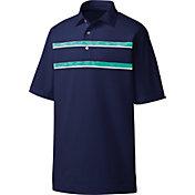 FootJoy Men's Space Dye Chest Stripe Golf Polo