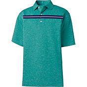 FootJoy Men's Stretch Pique Space Dye Chest Stripe Golf Polo