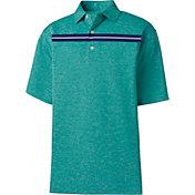 Product Image · FootJoy Men's Stretch Pique Space Dye Chest Stripe Golf Polo