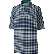 FootJoy Men's Stretch Lisle Gingham Print Golf Polo