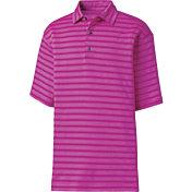 FootJoy Men's Stretch Lisle Tonal Stripe Golf Polo
