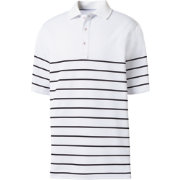 FootJoy Men's Stretch Pique Engineered Stripe Knit Golf Polo