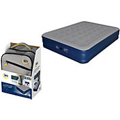 Serta 18'' Neverflat Raised Queen Air Mattress with Air Pump