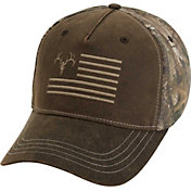 Field & Stream Waxed Ember Flag Camo Hat