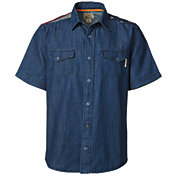 Field & Stream Men's Flag Denim Short Sleeve Shirt
